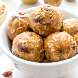 No Bake Oatmeal Raisin Bites (Vegan, Gluten Free)