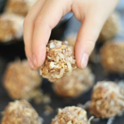 No-Bake Peanut Butter Coconut Snack Bites