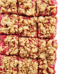 No-Bake Raspberry Chia Jam Bars (Vegan, GF and Paleo)
