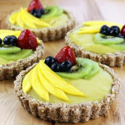 No Bake Summer Fruit and Custard Tart