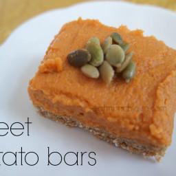No bake sweet potato bars (gluten free, vegan, refined sugar free)