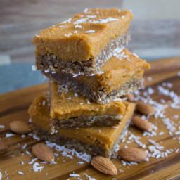 No-Bake Sweet Potato Bars With Raw Gingerbread Crust [Vegan, Gluten-Free]