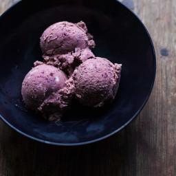 No-Churn Cherry Ice Cream