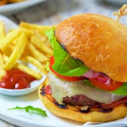 No-Knead Cheese Burger Buns