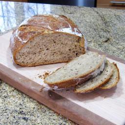 No-Knead Beer Rye Bread