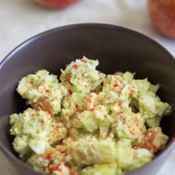 No mayo egg salad with apple and avocado