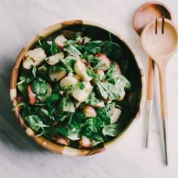 No Mayo Potato Salad with Basil Vinaigrette