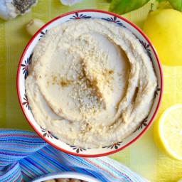 No-Oil No-Added-Sodium Nutritarian Hummus