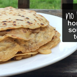 No-Rolling Sourdough Tortillas