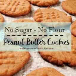 No Sugar/No Flour Peanut Butter Cookies