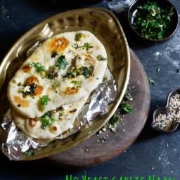 No yeast garlic naan
