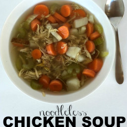 Noodleless Chicken Soup {with Freezing Instructions!}