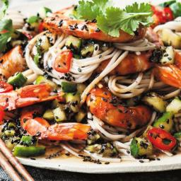 Noodles with Shrimp and Pickled Cucumber