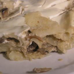 North Croatian Mushrooms and pasta casserole