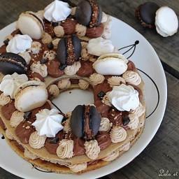Number cake chocolat and carambars