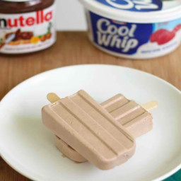 Nutella Cool Whip Popsicles
