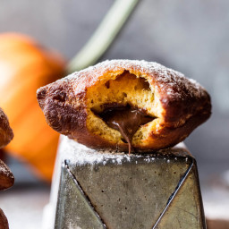 Nutella Stuffed Pumpkin Beignets