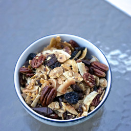 Nutty Maple Snack Mix with Coconut, Dried Cherries & Dark Chocolate