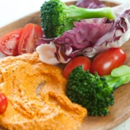 Nutty Red Pepper and Basil Dip