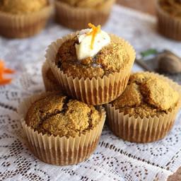 Oat Flour Carrot Cake Muffins (Gluten-Free)
