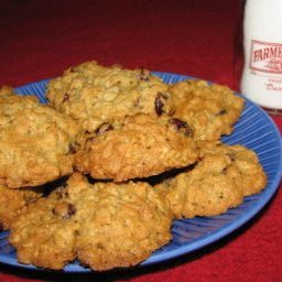 Oatmeal and Dried Cranberry Cookies