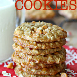 Oatmeal Butterscotch Cookies with Rolled Oats