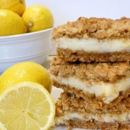 Oatmeal Creme Lemon Bars