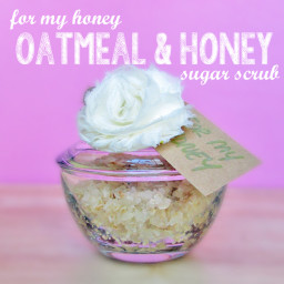 Oatmeal & Honey sugar scrub