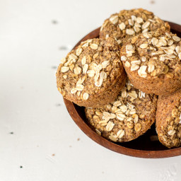 Oatmeal Pear Muffins - Vegan + Gluten-free