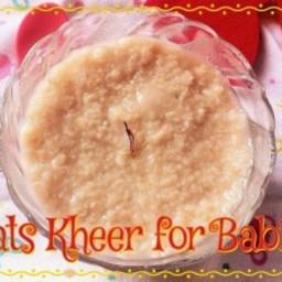 Oats Kheer for Babies