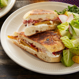 Oaxaca Cheese & Plantain Tortas with Tangelo & Radish Salad