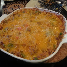 Oh So Cheesy Spaghetti Casserole