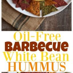 Oil-Free Barbecue White Bean Hummus