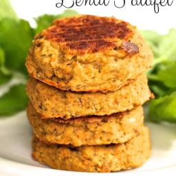 Oil-Free Vegan Lentil Falafel