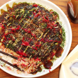 Okonomiyaki (Japanese Cabbage Pancake) Recipe