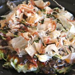 Okonomiyaki (Savory Cabbage Pancake)