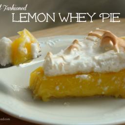 Old-Fashioned Lemon Whey Pie