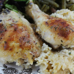 Old School Baked Chicken and Rice