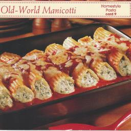 Old World Manicotti