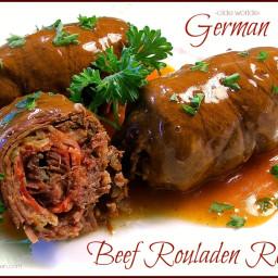 Olde Worlde German Beef Rouladen Rolls with Gravy (Rindsrouladen)