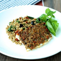 Olive and Sundried Tomato Crusted Fish