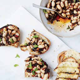 Olive, Chile and White Bean Crostini