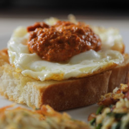 Olive Oil Fried Eggs with Spanish Pantry Sauce