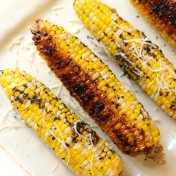 Olive Oil Parmesan Grilled Corn