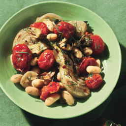 Olive-Oil-Roasted Tomatoes and Fennel with White Beans