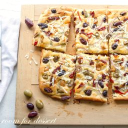 Olive, Onion and Sun Dried Tomato Focaccia