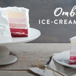 Ombre Ice-Cream Cake