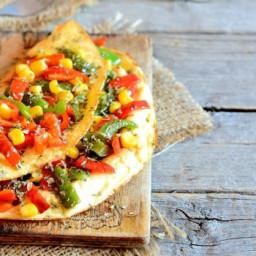 Omelette veggie farcie aux poivrons et au maïs