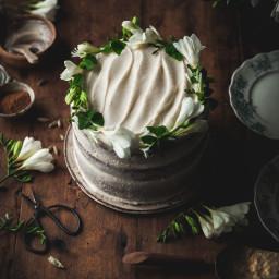 One-bowl Cardamom Carrot Cake + Creme Fraiche Frosting