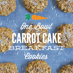 One Bowl Carrot Cake Breakfast Cookies